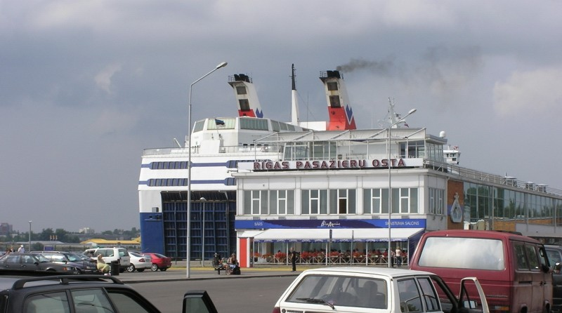 Рижский пассажирский порт. Tallink terminal. Riga. www.NaParome.ru